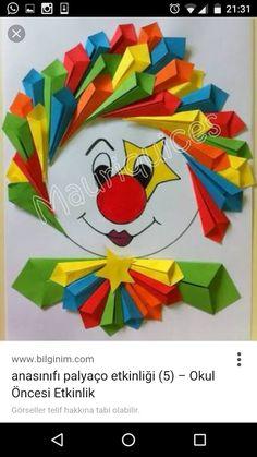 us wp-content uploads 2015 02 free-clown-craft. Kids Crafts, Clown Crafts, Circus Crafts, Preschool Crafts, Diy And Crafts, Arts And Crafts, Paper Crafts, Diy Y Manualidades, Art N Craft