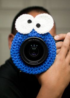 Need this for taking Gs pics!    Lens accessory, cookie monster, Photography Prop. $14.99, via Etsy. crochet-knitting