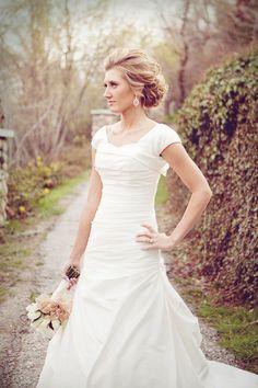 Modest Wedding Gown, Modest Bridal Gown, Modest Wedding Dress
