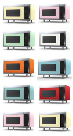 Retro Cool! Big Chill's Retro Microwave is made with stainless steel, has recessed glass turntable,1200 watts of cooking power and non-sensor reheat, cook and defrost cycles. Available in any of our 200 custom colors! Shop Now at #BigChill