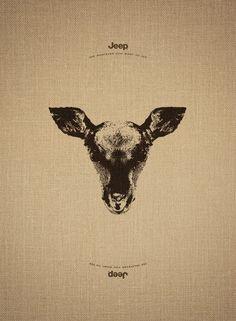 あなたは見つけられますか?「Jeep」の斬新な広告に描かれたもう1匹の動物 | CuRAZY
