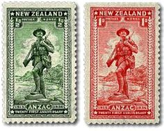 This stamp issue commemorated the twenty first anniversary of the landing on the Gallipoli Peninsula of the Australian and New Zealand Army Corps on 25 April 1915.
