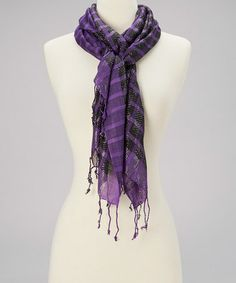 Take a look at this Purple Shimmer Scarf by Highness NYC on #zulily today!