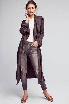 Slide View: 2: Trapunto Robe Coat