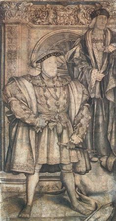 In 1537, Henry commissioned Hans Holbein the Younger to create a mural of the Tudor dynasty to commemorate the birth of his son and heir, Edward. It was the only mural which Holbein made in England. It originally occupied an entire wall in Whitehall Palace, which had been designated the official residence of the monarch just a year earlier. The mural was destroyed during a palace fire in 1698. Luckily, King Charles II had already commissioned a small copy thirty years before by the Flemish a...
