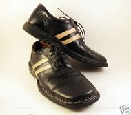 Mens STRUCTURE Shoes Oxford Sz 9 M Leather Sport Black Tan Casual Comfort
