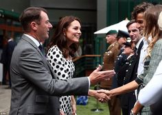 Catherine, Duchess of Cambridge attends the opening day of Wimbledon 2017 on July 3, 2017 in London, England.