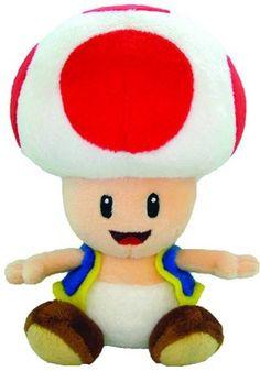 Super Mario Bros Toad Blau Plüsch Plush Mushroom Kart Wii U Party Bleu Peach