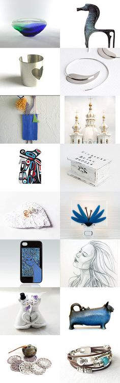 Happy Weekend by Anna Margaritou on Etsy-- #white #blue #etsygifts #etsyfinds…