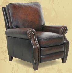 Barcalounger, Leather Recliner, Wood Trim, Nailhead Trim, Traditional Design, Floor Chair, Seat Cushions, Armchair, Puerto Rico