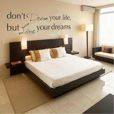 live your dreams muursticker, te koop via www.stickerplace.nl