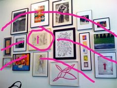 How To: Hang Art in Groups (Like Kate Spade)  A great explanation for how to make mismatched art work together in a group.