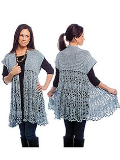 Pattern is done in Small to 6X http://www.ravelry.com/patterns/library/pineapple-swing-cardigan