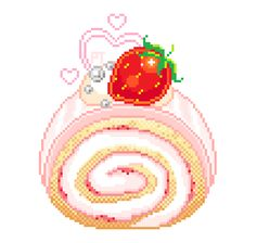 "pretty-transparents: "" treat yo self ❤️ "" Pixel Art Food, Anime Pixel Art, Food Art, Anime Art, Kawaii Doodles, Kawaii Art, Cute Wallpaper Backgrounds, Cute Wallpapers, Cartoon Drawings"