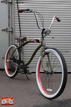 Lowrider Bicycle, Trike Bicycle, Retro Bicycle, Cruiser Bicycle, Bike Handlebars, Bmx Bikes, Cool Bikes, Indian Motorcycles, Triumph Motorcycles