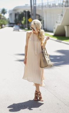 A Spoonful of Style: Pleated Midi Dress...