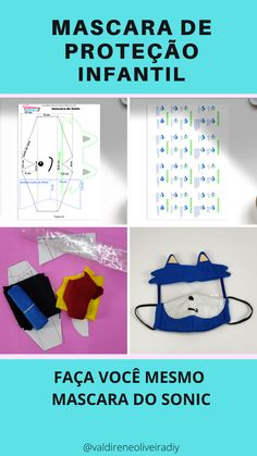 Face Masks For Kids, Easy Face Masks, Diy Face Mask, Diy Sewing Projects, Sewing Hacks, Mouth Mask Design, Mouth Mask Fashion, Sonic Party, Diy Mask