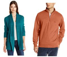 Get over 60% off men's and women's sweaters today on Amazon!