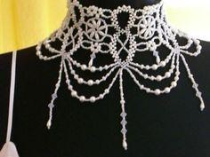 """Well-known beaded necklace """"Mylene Farmer"""""""