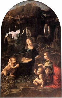 * The Virgin on the Rocks *   - This magnificent painting is only one example in which the background reveals da Vinci's knowledge of geology and its effects on our surroundings -
