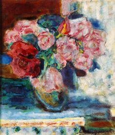 Pierre Bonnard-1936 vers bouquet de roses