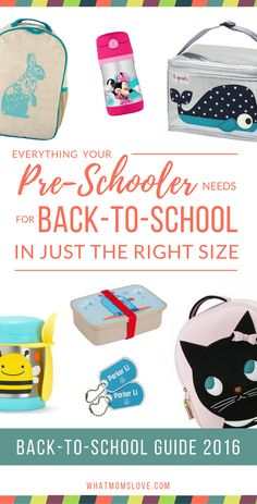 Back-to-School is just around the corner and we're here to make your back-to-school shopping a breeze with The Best Back-to-School Guide on the Planet. We've uncovered some of the coolest backpacks (as well as lunch boxes and accessories) that perfectly fit your preschoolers' proportions and will get them excited about starting school. These are also great for Daycare or Kindergarteners! Come browse at all of our Back-to-School guides at whatmomslove.com