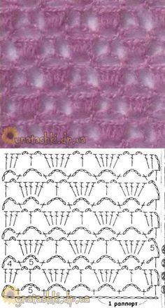 Learn To Crochet Sultan Stitch Crotchet Patterns, Crochet Motifs, Crochet Diagram, Crochet Stitches Patterns, Crochet Chart, Love Crochet, Crochet Doilies, Easy Crochet, Crochet Lace