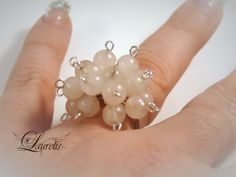 Rose quartz ring by Laurelisbijoux on Etsy, $8.99