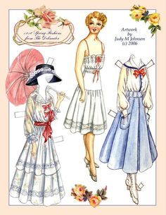 Judy M. Johnson paper dolls