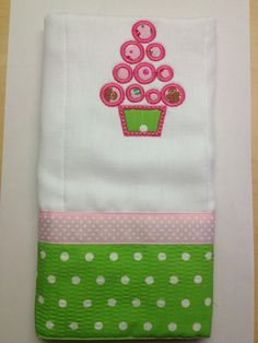 Girly burping cloth