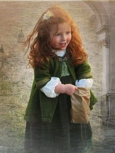 **Here's a pic of the baby girl that Claire is carrying when she goes back through the stones.**  A young Brianna ~ photo Jamie carried