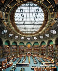 'The Oval Room', Reading Room of The National Library of France, Paris, 2008