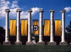 Welcome to Mizzou. The Columns on Francis Quadrangle. University of Missouri, Columbia MO. College Fun, College Life, College Football, Fight Tiger, Columbia Missouri, Missouri Tigers, Alma Mater, Oh The Places You'll Go, 6 Years