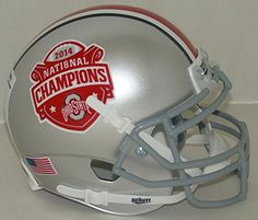 Ohio State Buckeyes Special 2014 National Champions Schutt Authentic Mini Helmet