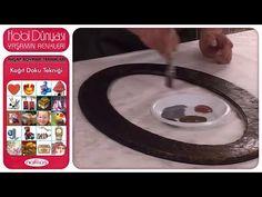 Ahşap Boyama Teknikleri - Kağıt Doku Tekniği - YouTube