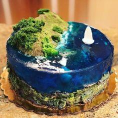 Gorgeous Cakes, Amazing Cakes, Cake Cookies, Cupcake Cakes, Island Cake, Ocean Cakes, Jello Cake, Sugar Bread, Resins