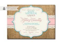 Image result for burlap invitations coral turquoise