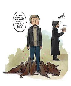 John Watson: Otter Whisperer.  :D <---- That xD