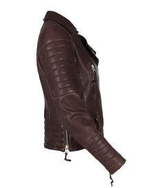 Oxblood Biker Jacket, Women, Leather, AllSaints Spitalfields