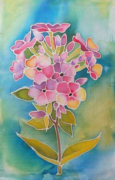 Malowanie na jedwabiu Batik Art, Batik Prints, Flower Art, Art Flowers, Alcohol Ink Crafts, Flower Sketches, Silk Art, Elementary Art, Fabric Painting