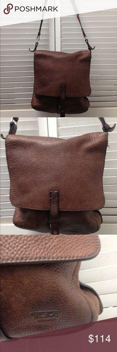 TUMI brown leather cross body  bag TUMI brown leather cross body  bag loved great condition Tumi Bags Crossbody Bags