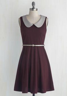Work to Play Dress in Eggplant | Mod Retro Vintage Dresses | ModCloth.com $54.99
