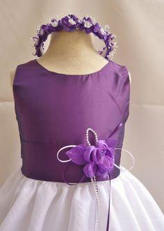 Vestidos Floristas vestido bordado púrpura por NollaCollection