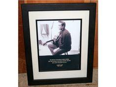 Framed Johnny Cash Print