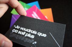 Toujours Dans La Srie De Cartes Visite Message Du Concepteur Designer Graphique Julien Trdan Turini