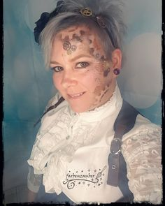 Steampunk look Airbrush, Body Art, Steampunk, Face, Kids Makeup, Bodypainting, Faces, Body Mods, Facial