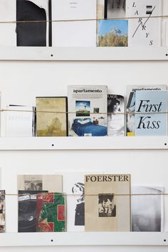 """Love this """"Zine Wall""""! Peek Inside A Teen Vogue Editor's NY Apartment #refinery29  http://www.refinery29.com/my-style-teen-vogue-naomi-nevitt#slide12  """"This is my zine wall, which holds a collection of magazines purchased at Printed Matter or gifted to me by my artist friends."""""""