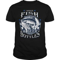 Get yours cool Rescue Fish From Water And Beer From Bottles Shirts & Hoodies.  #gift, #idea, #photo, #image, #hoodie, #shirt, #christmas
