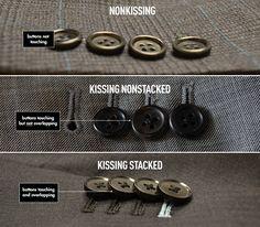 Cuff button detail..