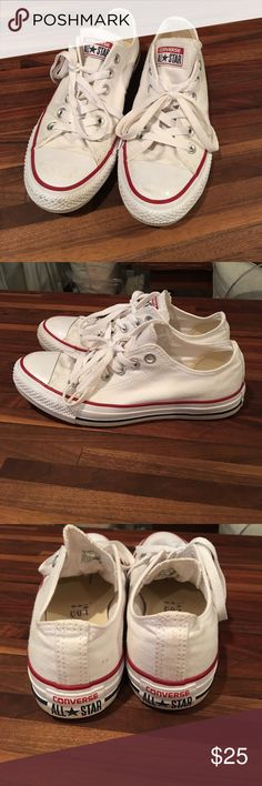 White Women's Converse All Stars Excellent condition. Worn less than a handful of times. Have been washed to increase softness. Converse Shoes